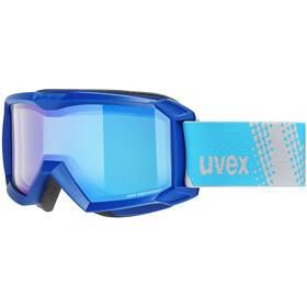 UVEX Flizz FM Goggles Kids blue/mirror blue